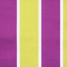 Riviera - Damson - Bright purple and lime green wide striped fabric