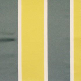 Riviera - Saffron - Grey and yellow wide stripe fabric