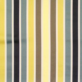 Biarritz - Saffron - Yellow and grey even striped fabric