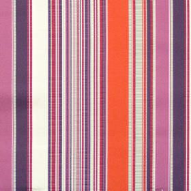 Monaco - Spice - Purple and red mixed stripe fabric