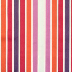 Biarritz - Spice - Red and purple even striped fabric
