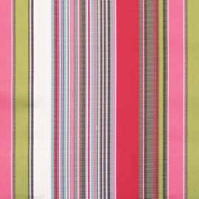 Monaco - Tomato - Green and red mixed stripe fabric