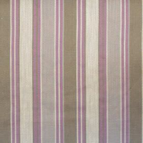 Somerville - Lavender - Lavender purple and green striped fabric