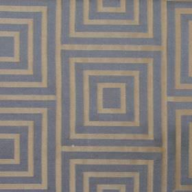 Providence - Denim - Denim blue square in a square pattern