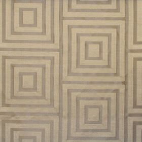 Providence - Linen - Linen grey square in a square pattern