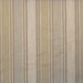 Somerville - Linen - Linen brown and light blues striped fabric