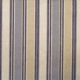 Somerville - Denim - Denim blue and white striped fabric