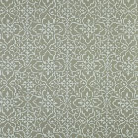 Tabriz - Linen - Pretty, delicate patterns covering 100% linen fabric in a small, simple design made in 2 different light shades of grey