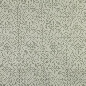 Tabriz - Willow - Two shades of grey making up a pretty, delicate pattern printed repeatedly on 100% linen fabric
