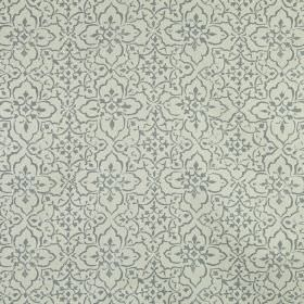 Tabriz - Dove - Fabric made from 100% linen in two different light shades of grey, featuring a small, pretty, delicate, repeated pattern