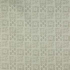 Tokyo - Natural - Small, delicate patterns arranged in a checkerboard design on fabric made from 100% linen in two shades of grey