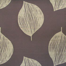 Terrazzo - Anthracite - Anthracite grey fabric with white simplistic leaves