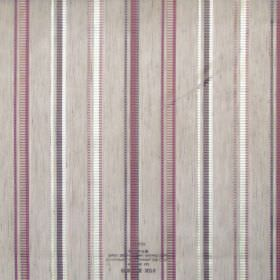 Enrique - Heather - Deep purple and white stripes on see-through fabric