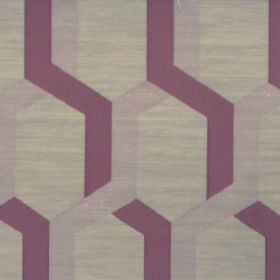 Gaudi - Dubarry - Dubarry purple fabric with lines forming hexagons