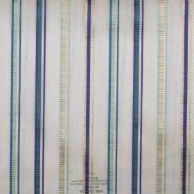 Enrique - Dresden - Dresden blue and gold stripes on see-through fabric