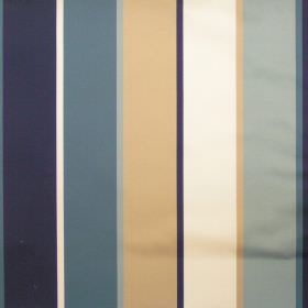 Martinez - Dresden - Dresden blue and gold striped fabric