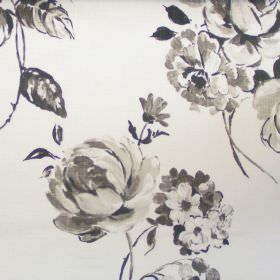Cinder Rose - String - String grey rose impressions on white fabric