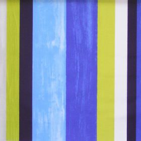 Vegas - Cobalt - Colourful lively striped fabric with cobalt blue
