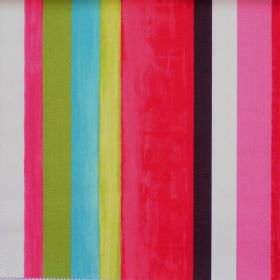 Vegas - Tropical - Colourful lively striped fabric with tropical pink