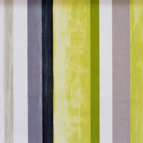 Vegas - Lime - Colourful lively striped fabric with lime green