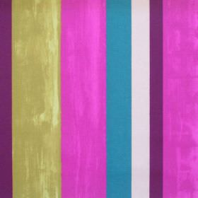 Vegas - Mulberry - Colourful lively striped fabric with mulberry pink