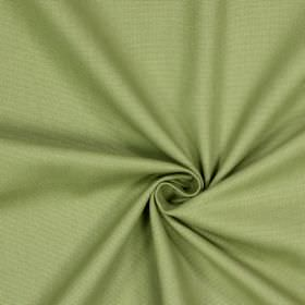 Panama - Moss - Plain light green coloured 100% cotton fabric with a dusky edge to it