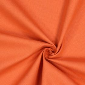 Panama - Flame - 100% cotton fabric in a plain shade of light orange