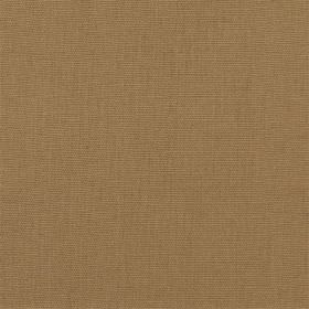 Panama - Latte - Plain dark brown cotton fabric
