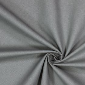 Panama - Graphite - Plain iron grey coloured fabric made from 100% cotton
