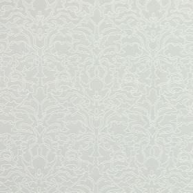 Claydon - Silver - Several different shades of grey which are all very pale, making up the ornate pattern for this cotton fabric