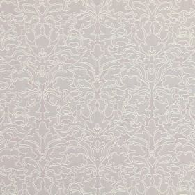 Claydon - Blush - Ornately patterned cotton fabric in beige, light brown and white