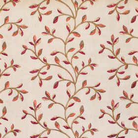 Eliza - Antique - Foliage and vine pattern on antique white fabric