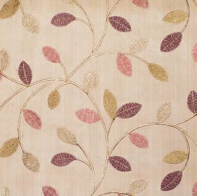 Violet - Mulberry - Simple modern mulberry purple foliage pattern on sandy fabric