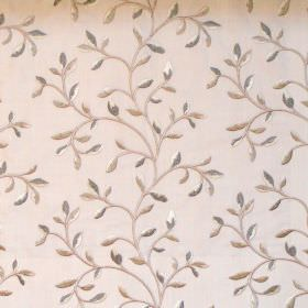 Eliza - Oyster - Foliage and vine pattern on oyster white fabric