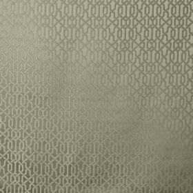 Maze - Linen - Similar, lustrous shades of grey making up a sophisticated geometric patteren on fabric made from 100% polyester