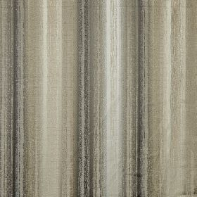 Ombre - Linen - Smudged charcoal, grey, beige and off-white coloured vertical stripes patterning polyester and cotton blend fabric