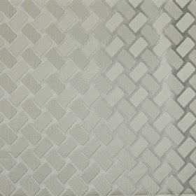 Segment - Stone - 100% polyester fabric featuring a stylish, elegant diagonal rectangle pattern in various lustrous light shades of grey