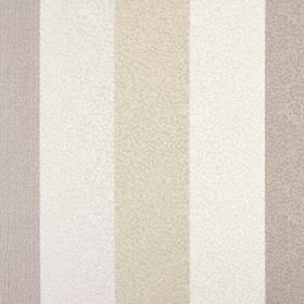 Nickel - Linen - Very subtle scribbled lines covering vertically striped 100% polyester fabric in pale grey, light brown and mocha colours