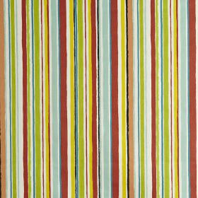 Zoom - Mango - Brightly coloured, vertically striped 100% cotton fabric, made in white, red, yellow, green and light blue shades