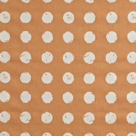 Zero - Mango - Dark salmon pink coloured 100% cotton fabric featuring a roughly printed design of white polka dots