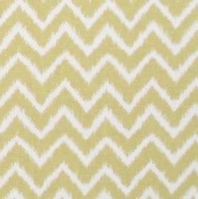 Twine - Straw - Straw yellow horizontal zigzags on white fabric