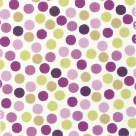 Petit Pois - Rhubarb - White fabric with rhubarb purple dots