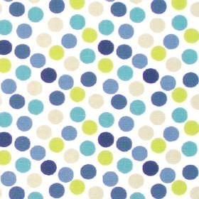 Petit Pois - Cornflower - White fabric with cornflower blue dots