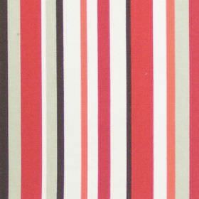 Terrace - Poppy - Vertical poppy red striped fabric