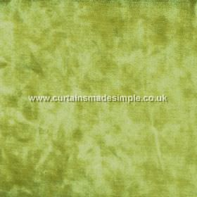 Ritz - Fern - Lime green coloured fabric which is slightly patchy in colour because of its texture
