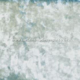 Ritz - Azure - Very slightly textured fabric which results in a mottled white, light green and duck egg blue finish