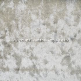 Ritz - Walnut - Mottled, textured light grey and silver coloured fabric