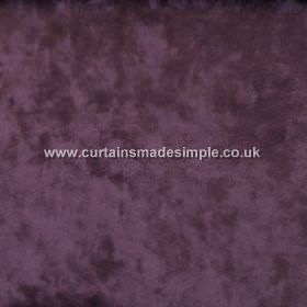 Ritz - Plum - Fabric made with a slight texture, causing the dark purple colour to look mottled