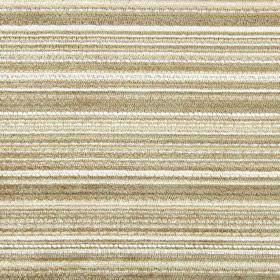 Enzo - Oatmeal - Horizontal bands in white and hessian brown colours running across fabric made from polyester, acrylic and viscose