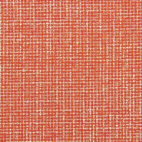 Otis - Tangerine - Bright orange and white coloured fabric woven from threads made from polyester and acrylic